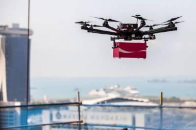 ڈرون کےذریعے سامان کی پہلی ترسیل