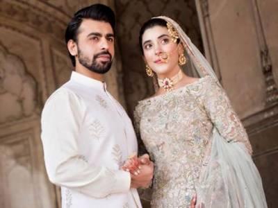 اداکارہ عروہ حسین اور فرحان سعید کا بادشاہی مسجد میں نکاح ، تصاویر سامنے آگئیں