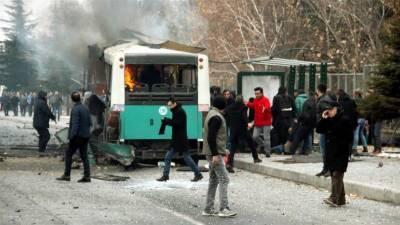 ترکی میں دھماکہ، دہشت گردوں نے یونیورسٹی کے باہر فوجی بس کو نشانہ بنا دیا