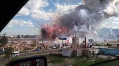 میکسیکو میں آتش بازی کے سامان کی مارکیٹ میں دھماکہ، 27افراد ہلاک