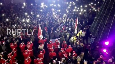 حلب میں چار سال بعد کرسمس کا جشن