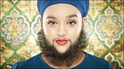 برطانوی نژاد سکھ خاتون نے داڑھی رکھ لی ،نام گینز بک میں شامل