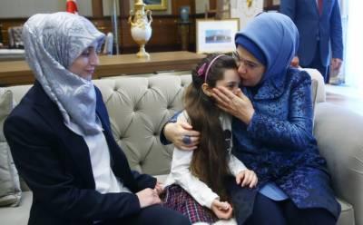 ترک صدر کی اہلیہ کا عالمی رہنما وں کی بیگمات کو شام میں انسانی المیے پر مراسلہ