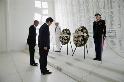 پرل ہاربر پر جاپانی فضائیہ کا حملہ،65سال بعد جاپانی وزیراعظم پرل ہاربر پہنچ گئے