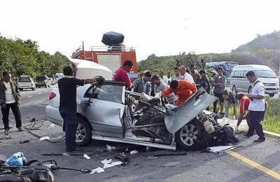 تھائی لینڈ: ٹریفک حادثے میں 25 افراد ہلاک، متعدد زخمی