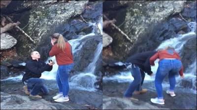 منگیتر کو آبشار کنارے انگوٹھی پہنانے کا خواب چکنا چور
