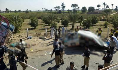 جامشورو : انڈس ہائی وے پر ایمبولینس اور ٹرک میں تصادم خاتون سمیت 5 افرادجاں بحق