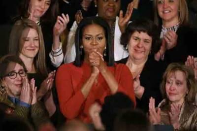 مشعل اوباما وائٹ ہاؤس میں اپنی آخری تقریر کے دوران جذباتی ہو گئیں