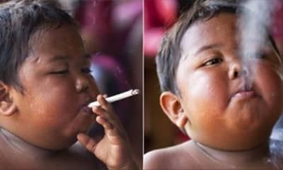 40 سگریٹ روزانہ پینے والا بچہ کس حال میں؟