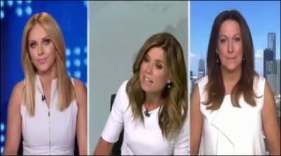 خواتین نیوز کاسٹرز کے جھگڑے کی ویڈیو وائرل
