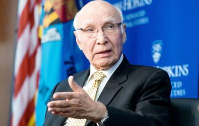 پاکستان کسی صورت بھی خطے میں بھارت کی حکمرانی کو برداشت نہیں کرے گا، سرتاج عزیز