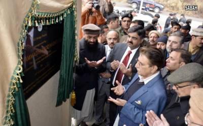 وزیر اعظم آزادکشمیر راجہ محمد فاروق حیدر خان نے آر سی سی پل ٹھوٹھہ کا افتتاح کر دیا