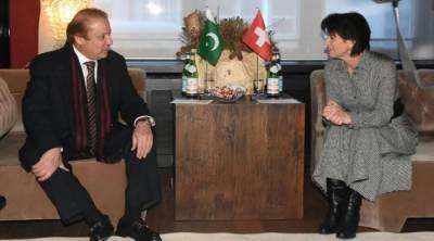 وزیر اعظم کی سوئس صدر سے ملاقات، مسئلہ کشمیر پر پاکستانی موقف سے آگاہ کیا