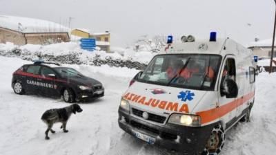 اٹلی کے ہوٹل پر برفانی تودہ گرنے سے 30 افراد ہلاک