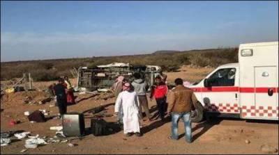 سعودی عرب میں ٹریفک حادثے میں 7 پاکستانی جاں بحق