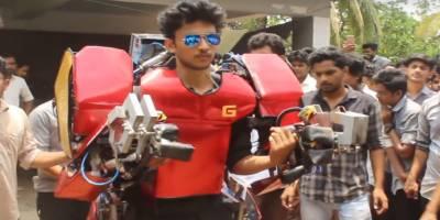 بھارتی انجینئرنگ کے طالب علم نےپہلا انسان نما روبوٹ بنالیا
