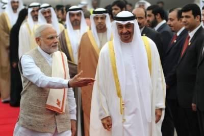 شیخ محمد بن زید تاریخی دورے پر بھارت پہنچ گئے