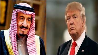 روس کے بعد سعودی فرماں رواں شاہ سلمان اور ٹرمپ کا ٹیلی فونک رابطہ