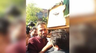 وہاب ریاض کے والد کی نماز جنازہ لاہور میں ادا کر دی گئی