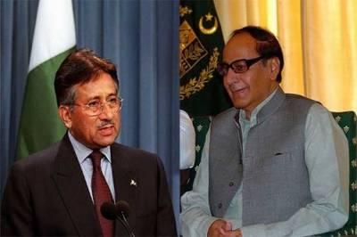 دبئی: شجاعت کی پرویز مشرف سے ملاقات، سیاسی امور پر تبادلہ خیال