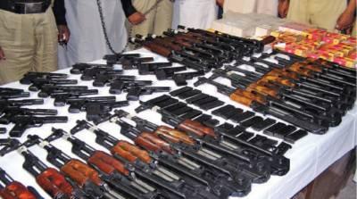 کوہلو میں ایف سی اور حساس اداروں کی کارروائی، بھاری تعداد میں اسلحہ برآمد
