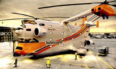 دنیا کا پہلا سیون سٹار ہیلی کاپٹر ہوٹل اڑان بھرنے کےلئے تیار