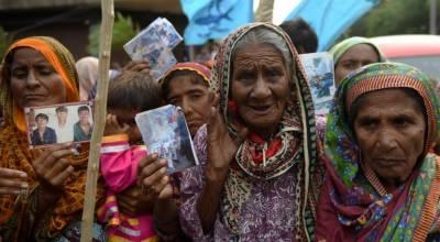 ایک ہی خاندان کے اٹھارہ افراد کو ہندوستانی بحریہ نے گرفتار کر لیا،ورثا کا احتجاج