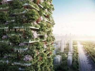 چین میں درختوں سے ڈھکی عمارت کا انوکھا منصوبہ