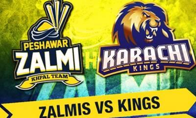 پشاور زلمی کا کراچی کنگز کے خلاف ٹاس جیت کر باؤ لنگ کا فیصلہ