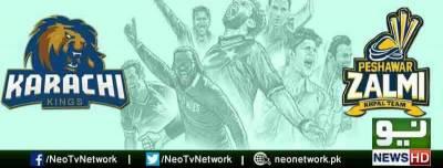پشاور زلمی کی کراچی کنگز کے خلاف سات وکٹوں سے فتح