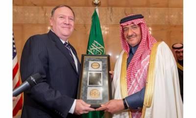 سعودی ولی عہد شہزادہ محمد بن نائف کوامریکی سی آئی اے کا اعزاز