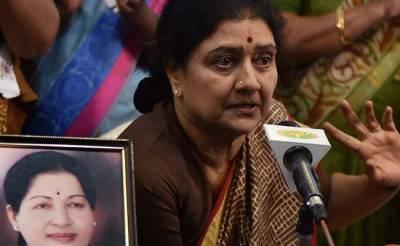 تامل ناڈو کی چھوٹی اماں اور نامزد وزیر اعلی کو 4 سال قید کی سزا