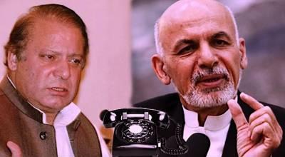افغان صدر اشرف غنی کا نواز شریف کو ٹیلیفون ,لاہور دھماکے پر اظہارِ افسوس
