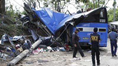 فلپائن، بس حادثہ، 13 افراد ہلاک ، 30 زخمی