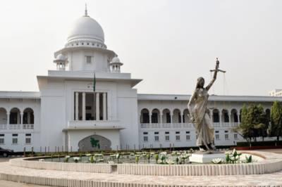 بنگلہ دیش ، سپریم کورٹ کے باہر دیوی کے مجسمے کے خلاف مظاہرے