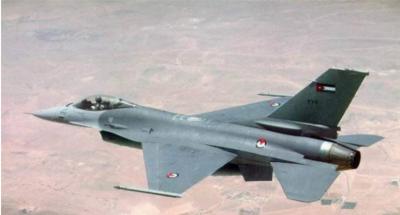 اردن کی مسلح افواج کا ایف سولہ طیارہ گر کر تباہ