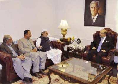 مولانا محمد سعید یوسف کی صدر آزاد جموں و کشمیر سردار محمد مسعود خان سے ملاقات