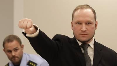 ناروے میں 77انسانوں کا قاتل بریوک انسانی حقوق کی پامالی کا مقدمہ ہار گیا
