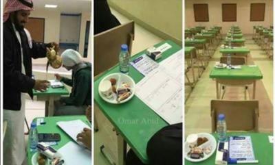 سعودی عرب کے امتحانی کمرے کی سوشل میڈیا پر دھوم
