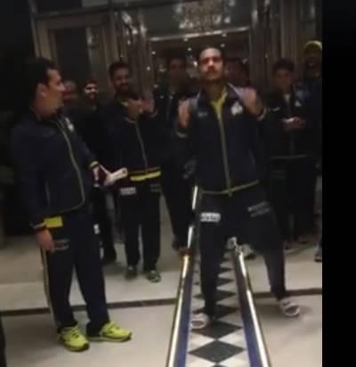 پشاور زلمی نے ہوٹل میں جا کر جیت کا جشن منایا