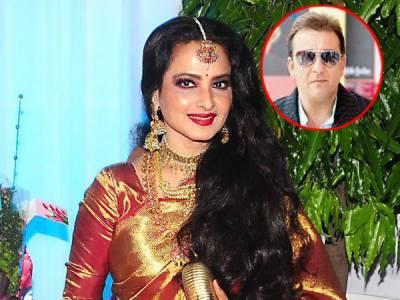 اداکارہ ریکھا کی مانگ میں سنجے دت کے نام کا سندور