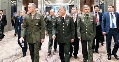 پہلی بار امریکی، روسی اور ترکی افواج کے سربراہان کی اہم ملاقات