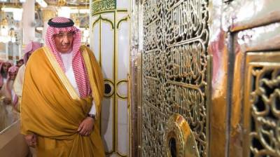 سعودی ولی عہد شہزادہ محمد بن نایف کی روضہ رسول پر حاضری