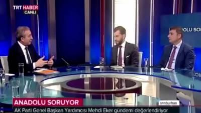 ترک ٹی وی چینل پر انٹرویو کرتے ہوئے صحافی اچانک بے ہو ش