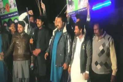 لاہور: ٹاؤن شپ میں پی ٹی آئی کے جلسے کیخلاف لیگی کارکنوں کا احتجاج