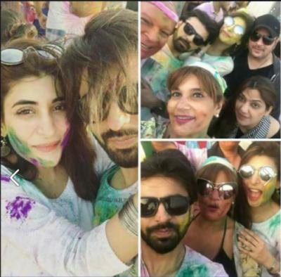 پاکستانی شوبزستاروں کی ہولی منانے کی تصویر نے تہلکہ مچا دیا