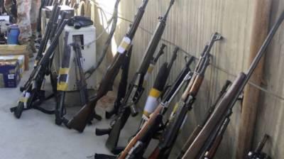کراچی ،رینجرز نے سکول سے اسلحہ کا ذخیرہ برآمد کر لیا