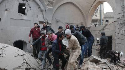 شام: مسجد پر فضائی حملہ، 42 افراد جاں بحق