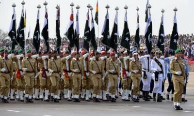 اسلام آباد کی شکرپریاں پریڈگراؤنڈ میں یوم پاکستان پریڈ کی تیاریاں عروج پر