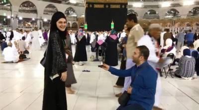 صحن کعبہ میں شادی کی پیشکش کرنا ترکی نیوز کاسٹر کو مہنگا پڑ گیا